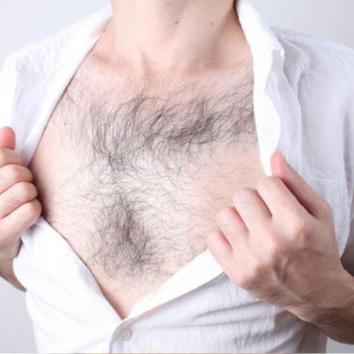 胸毛脱毛,メンズエール